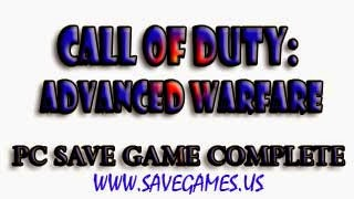 CALL OF DUTY ADVANCED WARFARE SAVE GAME AND …