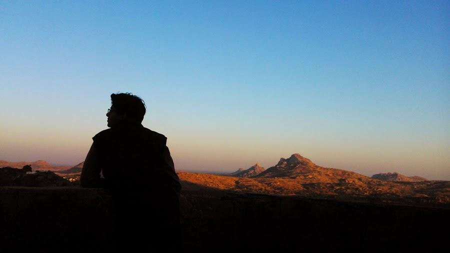 GvSparx - Madhugiri Hills Evening Silhouette