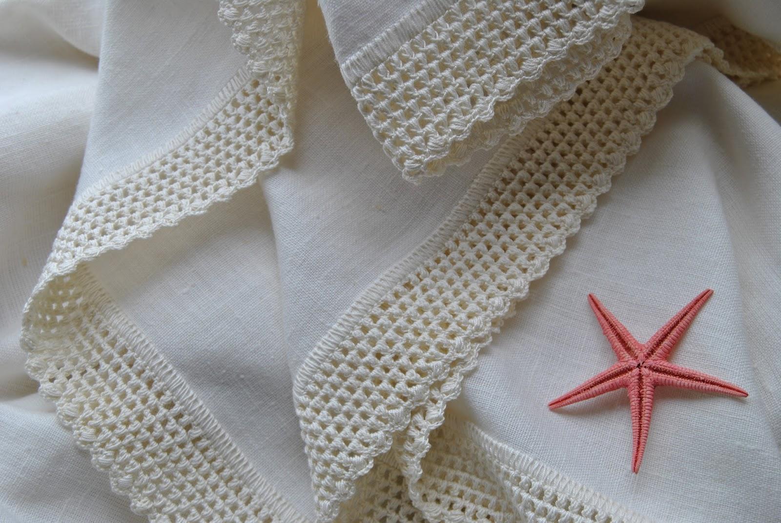 Crochet handmade crochet mantel de lino y servilletas - Manteles de lino ...