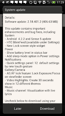 Android 4.2.2 Update for HTC One X+