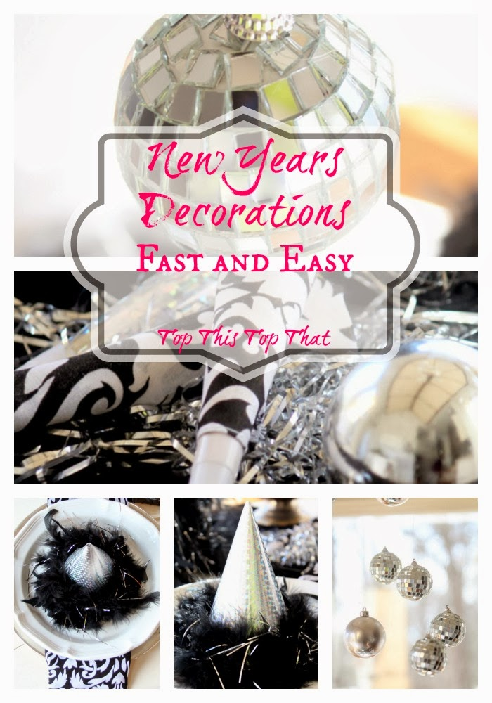 ... to share a few ideas that I am using to create a fun New Years table