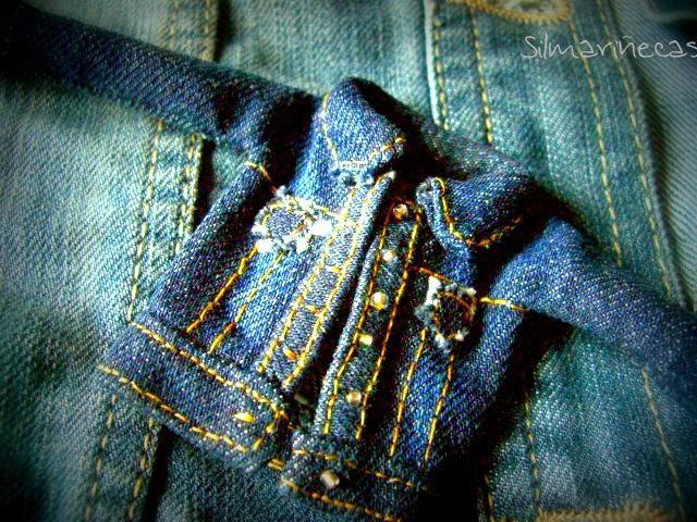 réplica en miniatura de chaqueta vaquera-