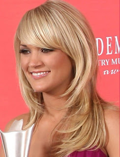 Carrie Underwood Long Staright Hairstyles 2012 Carrie Underwood Long Blonde Romantic Curly Hairstyles