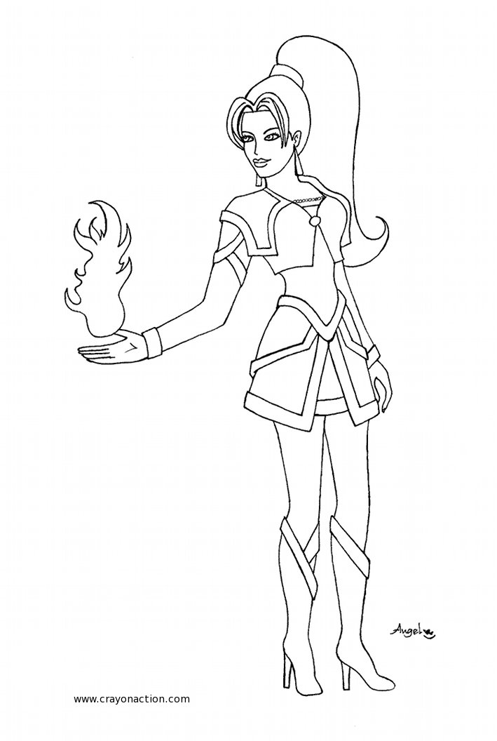 coloring pages superheroes women costume - photo#5