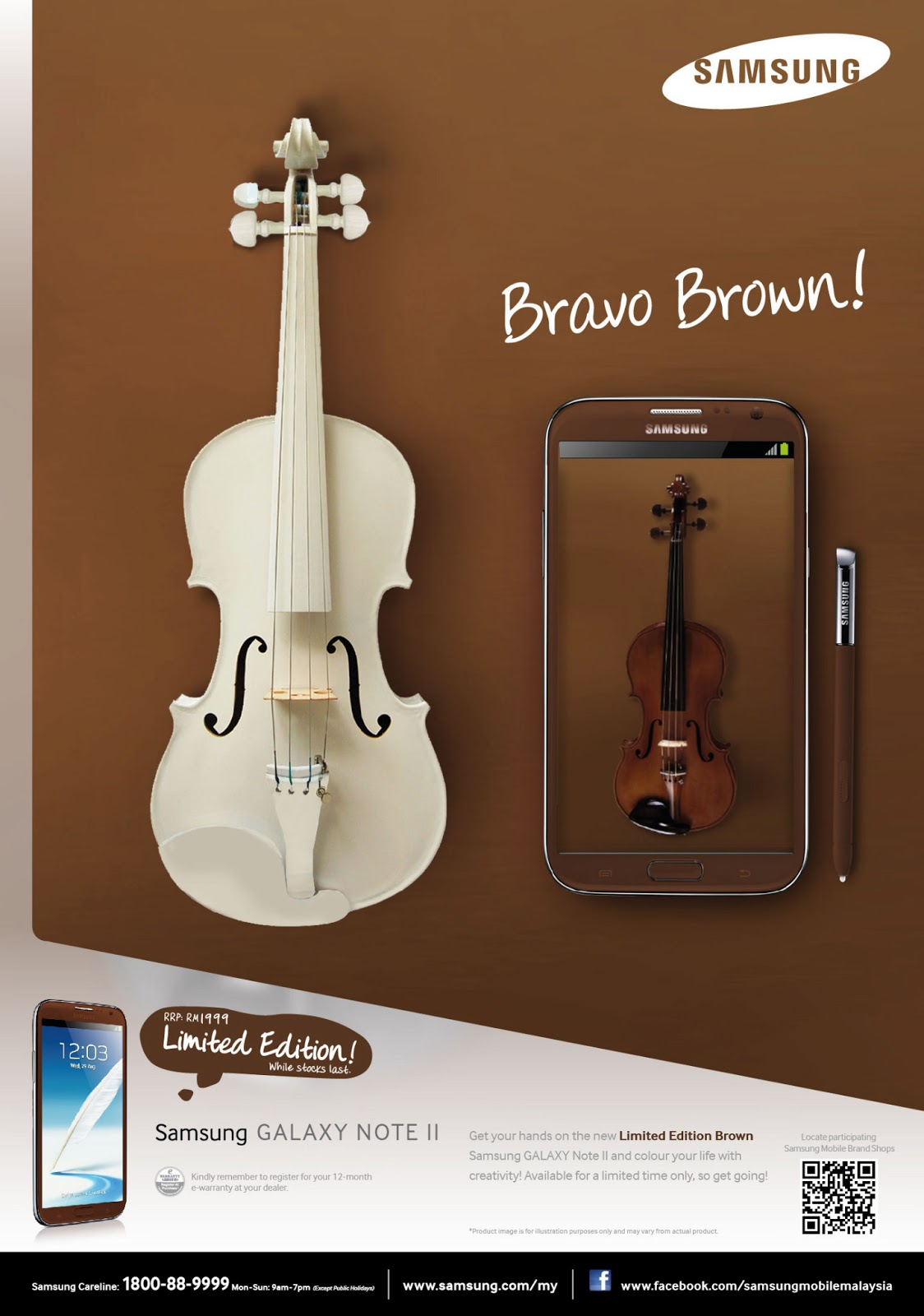 Note+II+Brown+Ad SAMSUNG GALAXY NOTE 2 AMBER BROWN