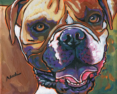 dog painting, Boxer