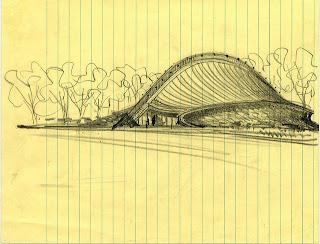 Dibujo del Estadio de Hockey David S. Ingalls