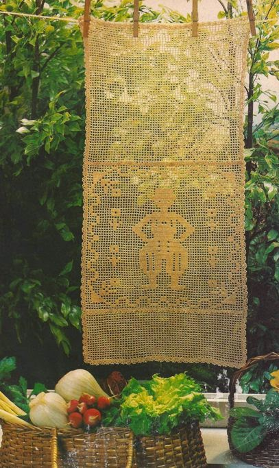 "Panel Decorativo ""El Señorito"" a Crochet"