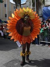Een aantal deelnemers aan de parade