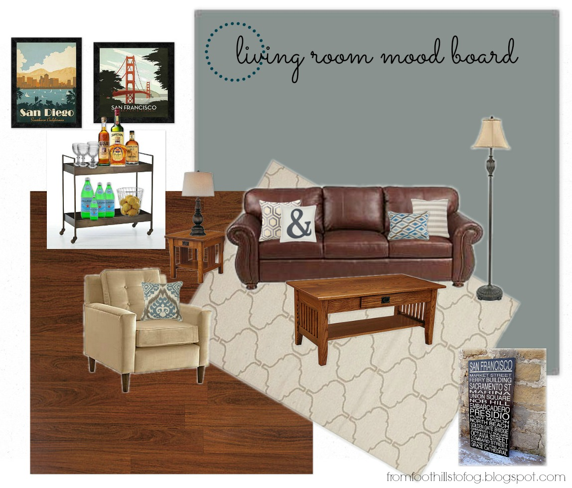 from foothills to fog living room mood board