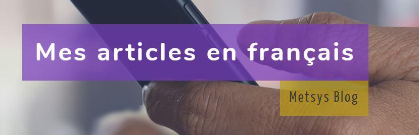 Mes articles en français