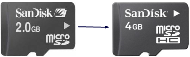 how to make 2gb memory card to 4gb