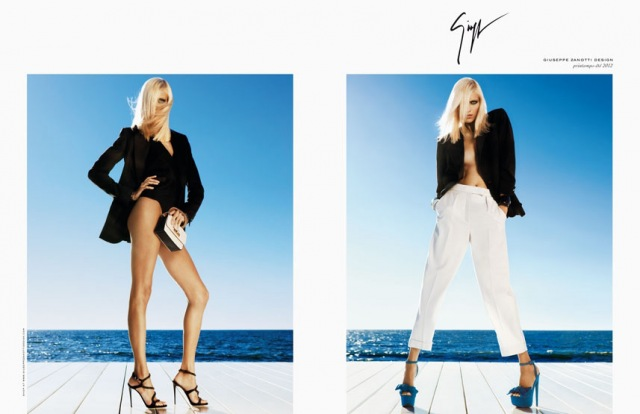 anja rubik giuseppe zanotti spring summer 2012 01 Anja Rubik for Giuseppe Zanotti S/S 2012 Campaign! *Preview*