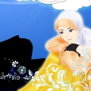 Gambar kartun wanita muslim bersedih