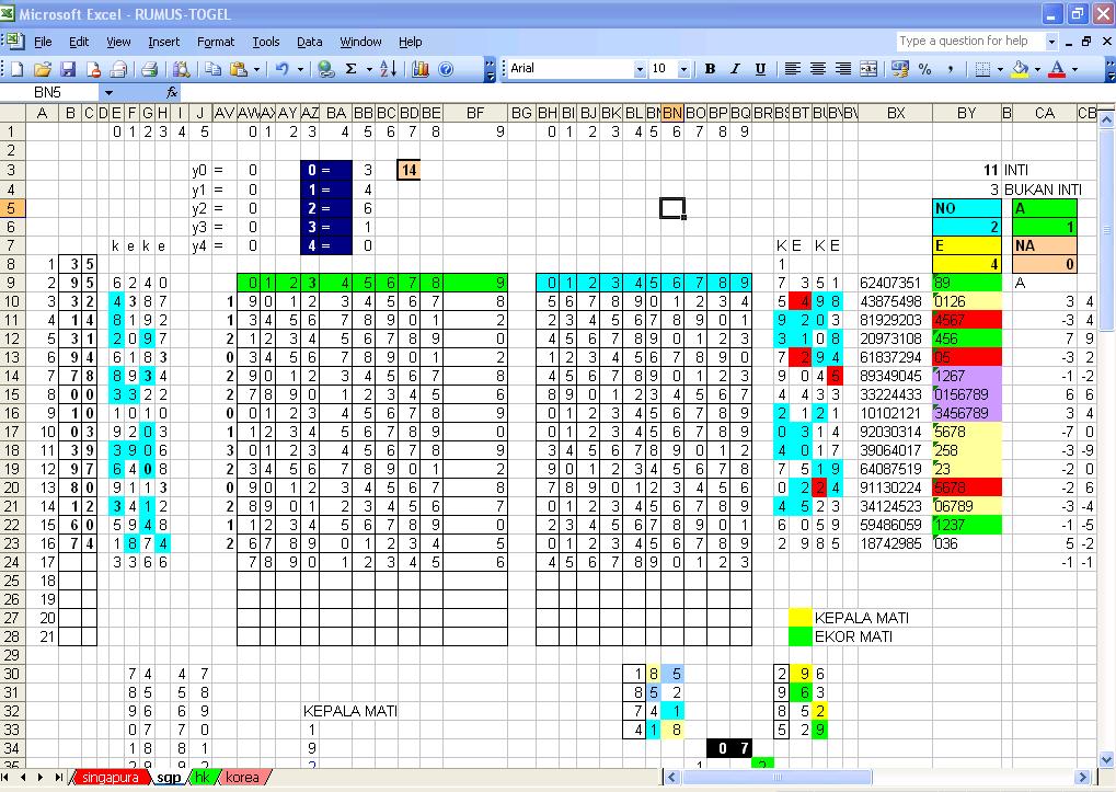 Data Togel Singapura, Data Togel Hongkong, Data Togel sydney Rumus Togel Singapura Dengan Excelhtml