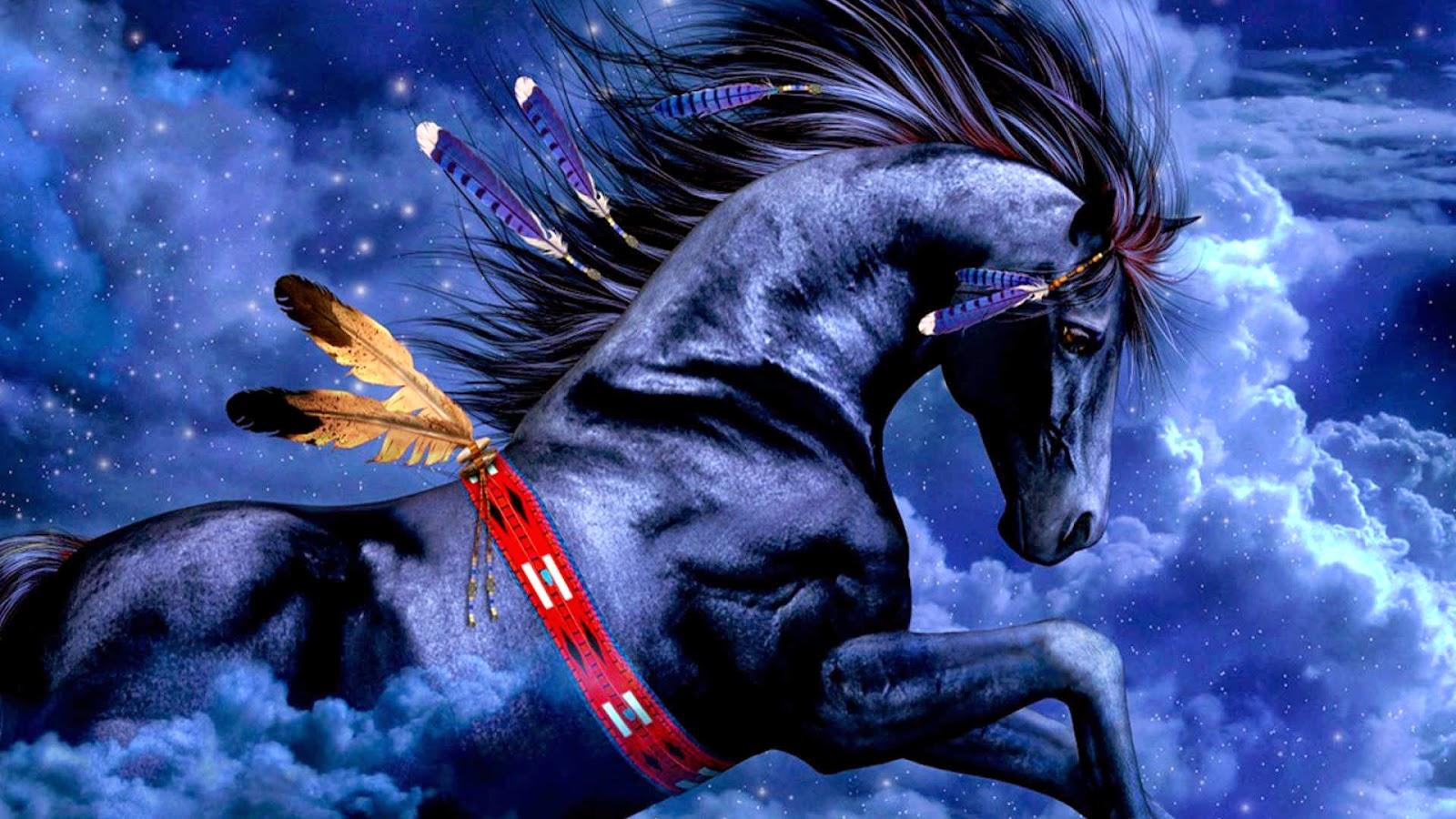 Blue Horse 3D Wallpapers HD O