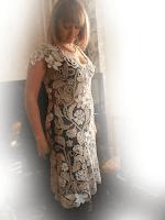 Платье крючком ирландское кружево