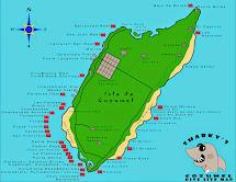 Cozumel Dive Site Map