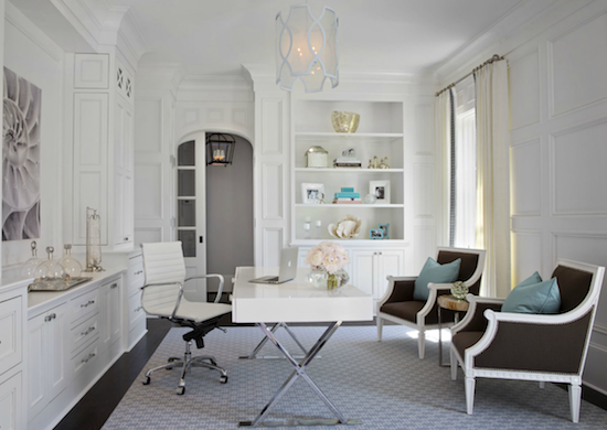 white traditional kitchens with modern upgrades clean and simple bathrooms not to mention the chic wallpaper choiceswell it was like finding a chic home office white