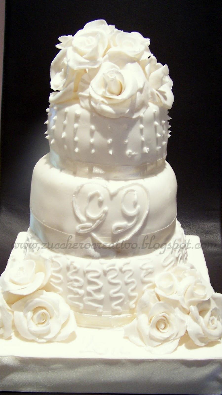 Torta nuziale per anniversario di matrimonio zucchero for Anniversario di matrimonio
