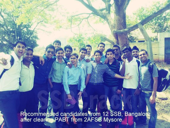 12 SSB Bangalore PABT cleared candidates