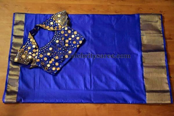 Blue Work Blouse