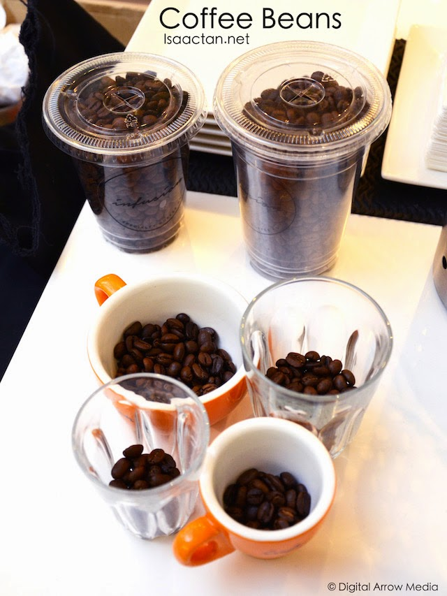 Coffee Beans in the variety of cups offered by Infusion