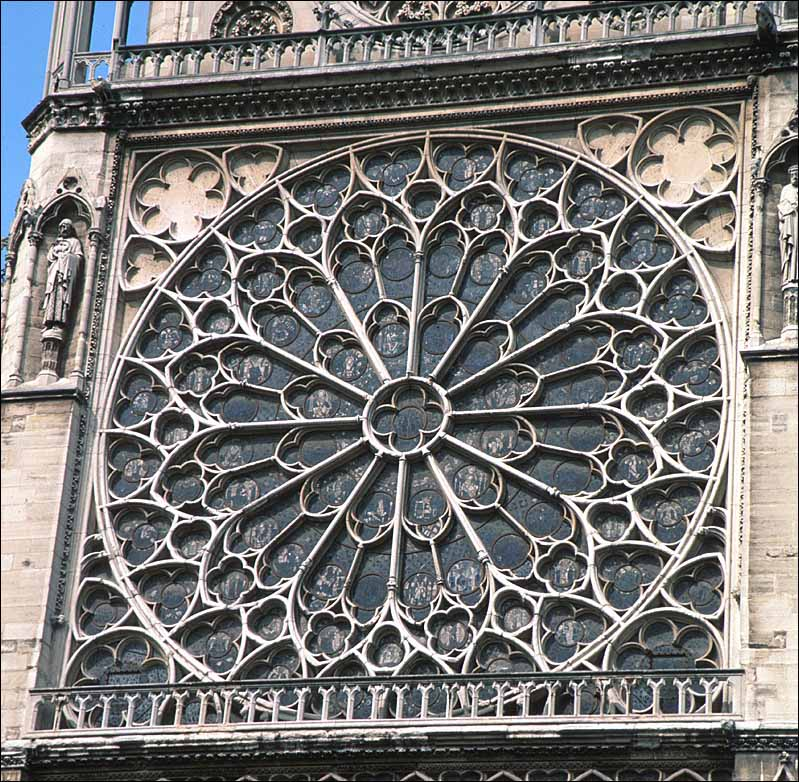 Large Rose Window Complex Tracery