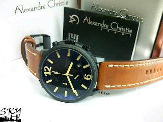 JAM TANGAN ALEXANDER CHRISTIE 6267 BLACK BROWN