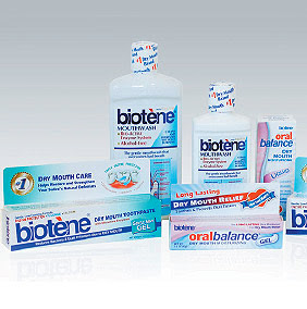 Dry mouth treatment products