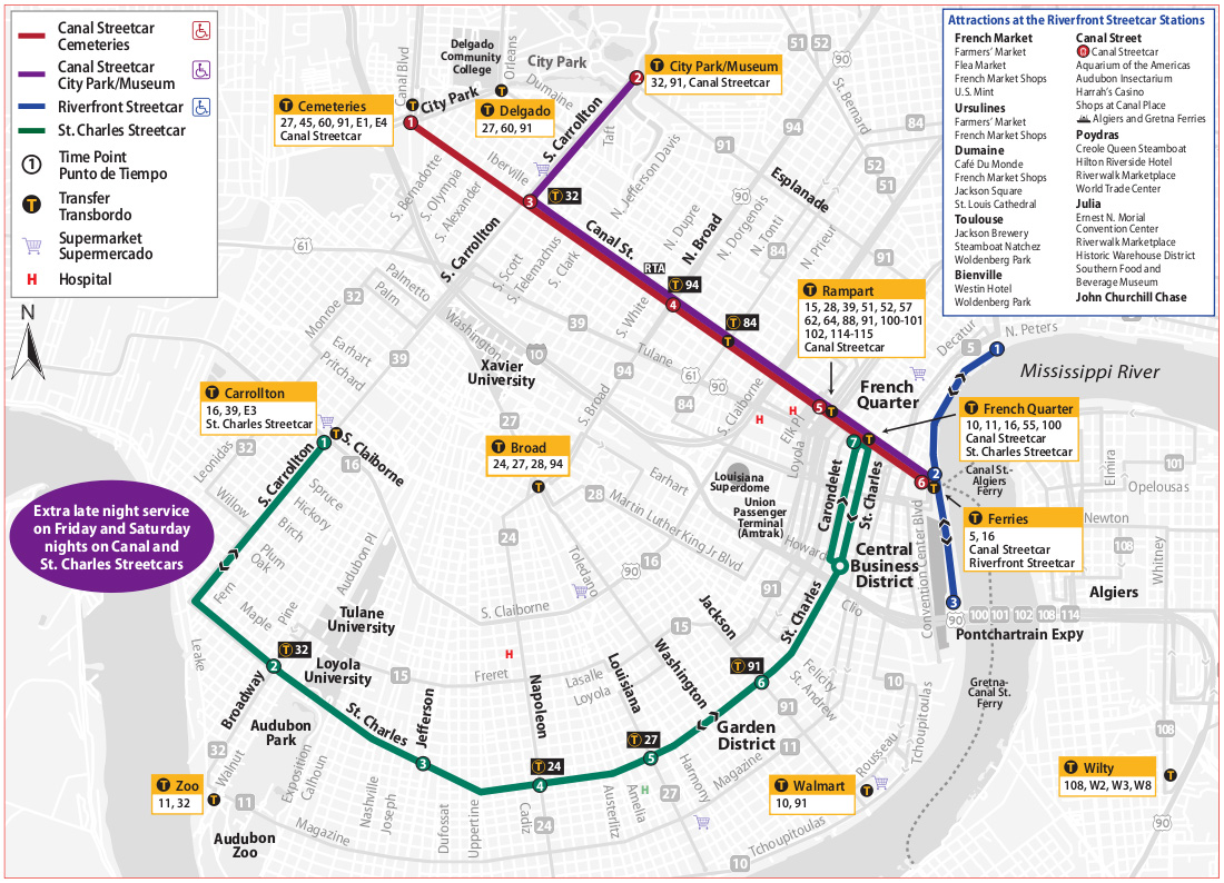 new orleans streetcar map pdf