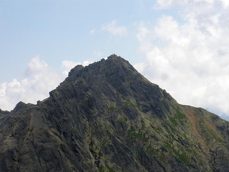 Kozi Wierch (słow. Kozí vrch) widziany z Małego Koziego Wierchu.
