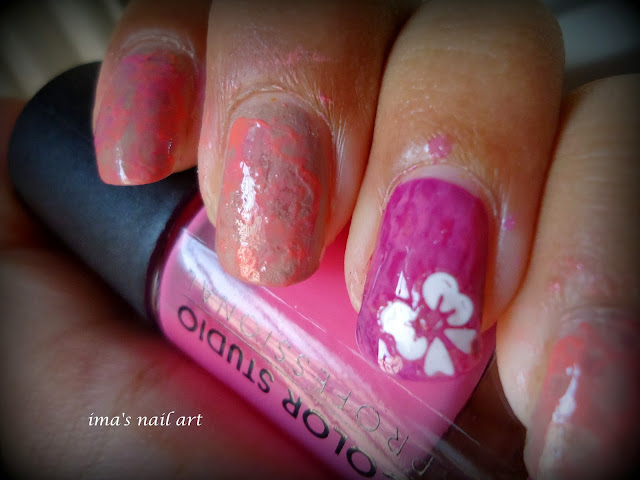 Ima\'s nail art: WATER MARBLE NAIL ART WITHOUT WATER (tutorial)