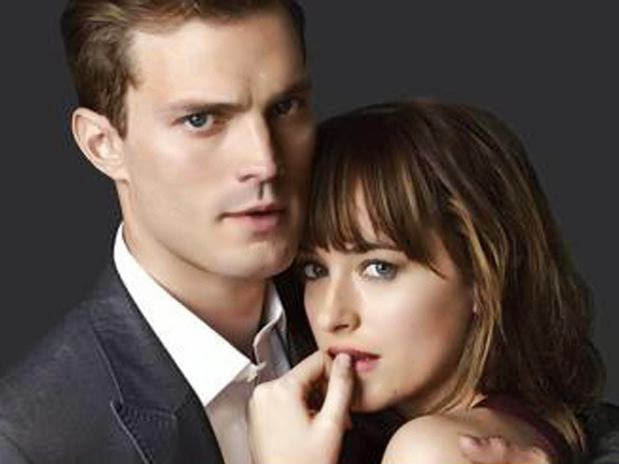 Christian Grey y Anastasia Steele. Cincuenta sombras de Grey. Jamie Dornan y Dakota Johnson. MÁS CINE. Making Of