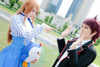 Mawaru Penguindrum Takakura Himari and Kanba cosplay by Uri and Yuku