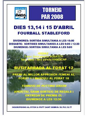 Torneig Par 2008 P&P Sant Cebria
