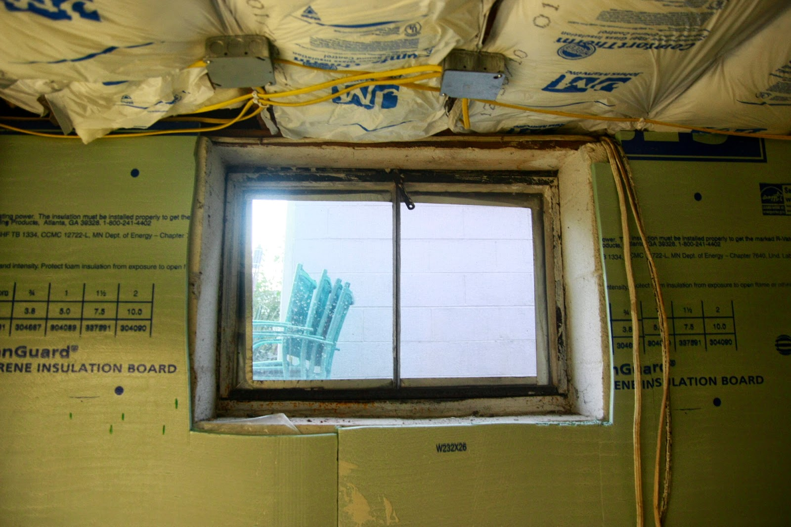 Over on dover replacing basement windows for Basement window replacement