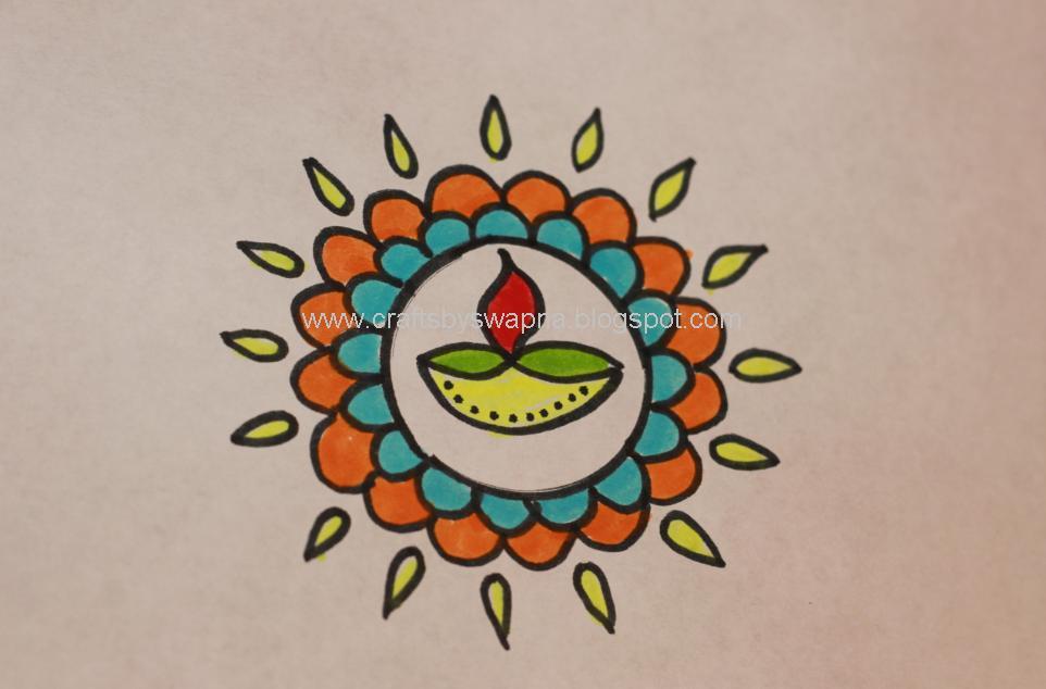 My Craft Ideas Diwali Rangoli