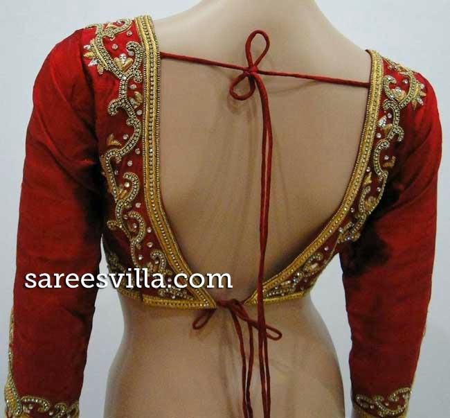 Maggam Work Backless Blouse