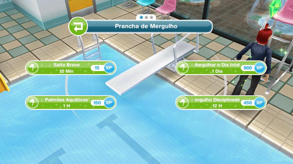 0e6afab85c The Sims Freeplay  Nadando de Braçada  Use um Trampolim