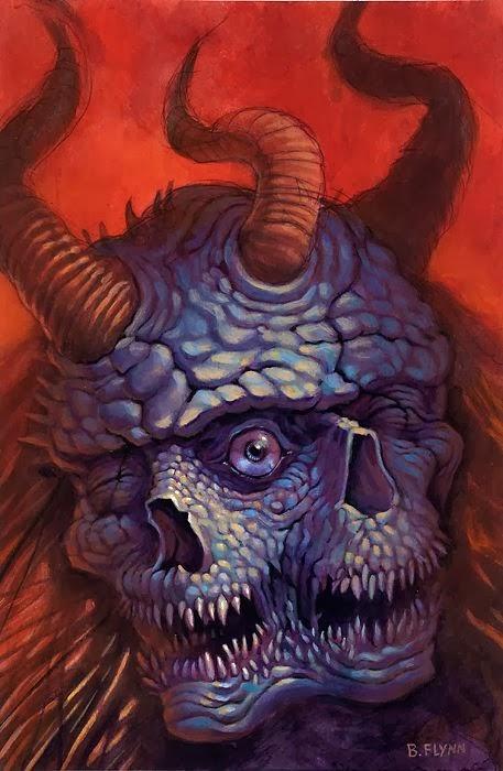 Brendon Flynn pinturas macabras surreais sombrias infernais fantasia