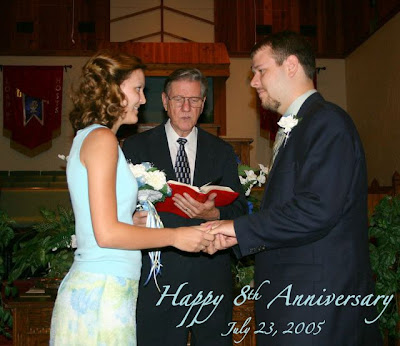 Happy 8th Wedding Anniversary Ben & Danielle