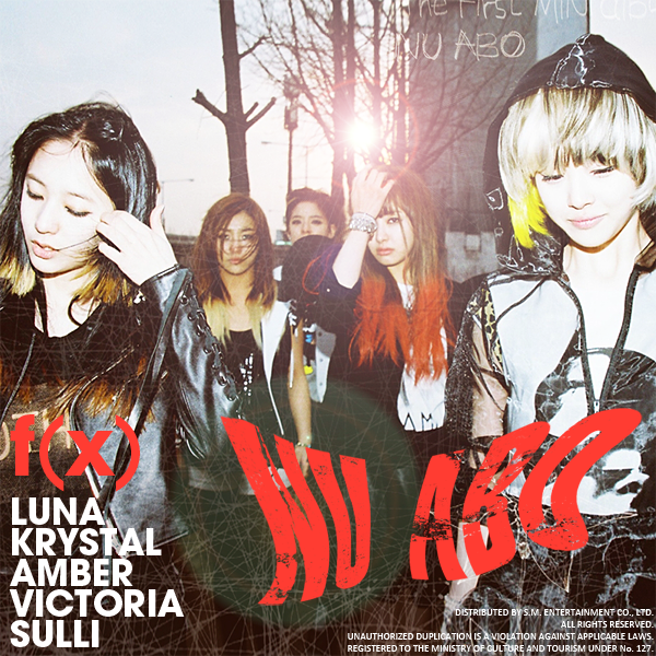 """... Off With Kpop: Random Throwback: F(x) """"NU ABO"""" Mini Album Review F(x) Amber Pink Tape"""