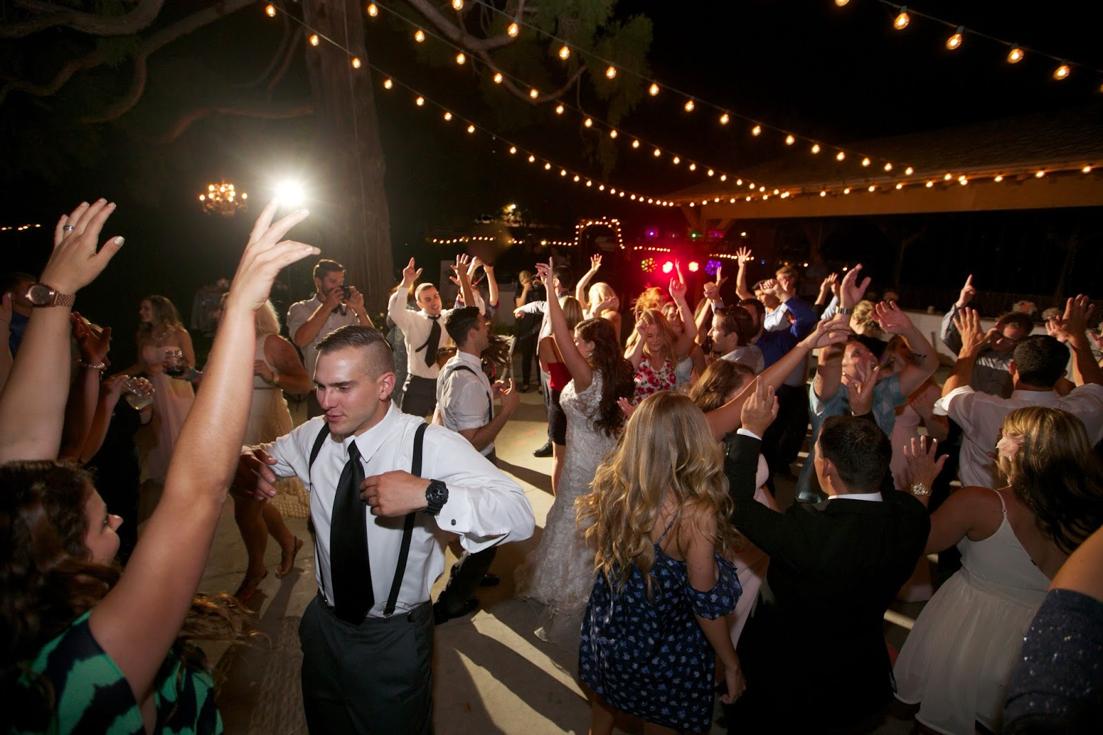 huge wedding party dance