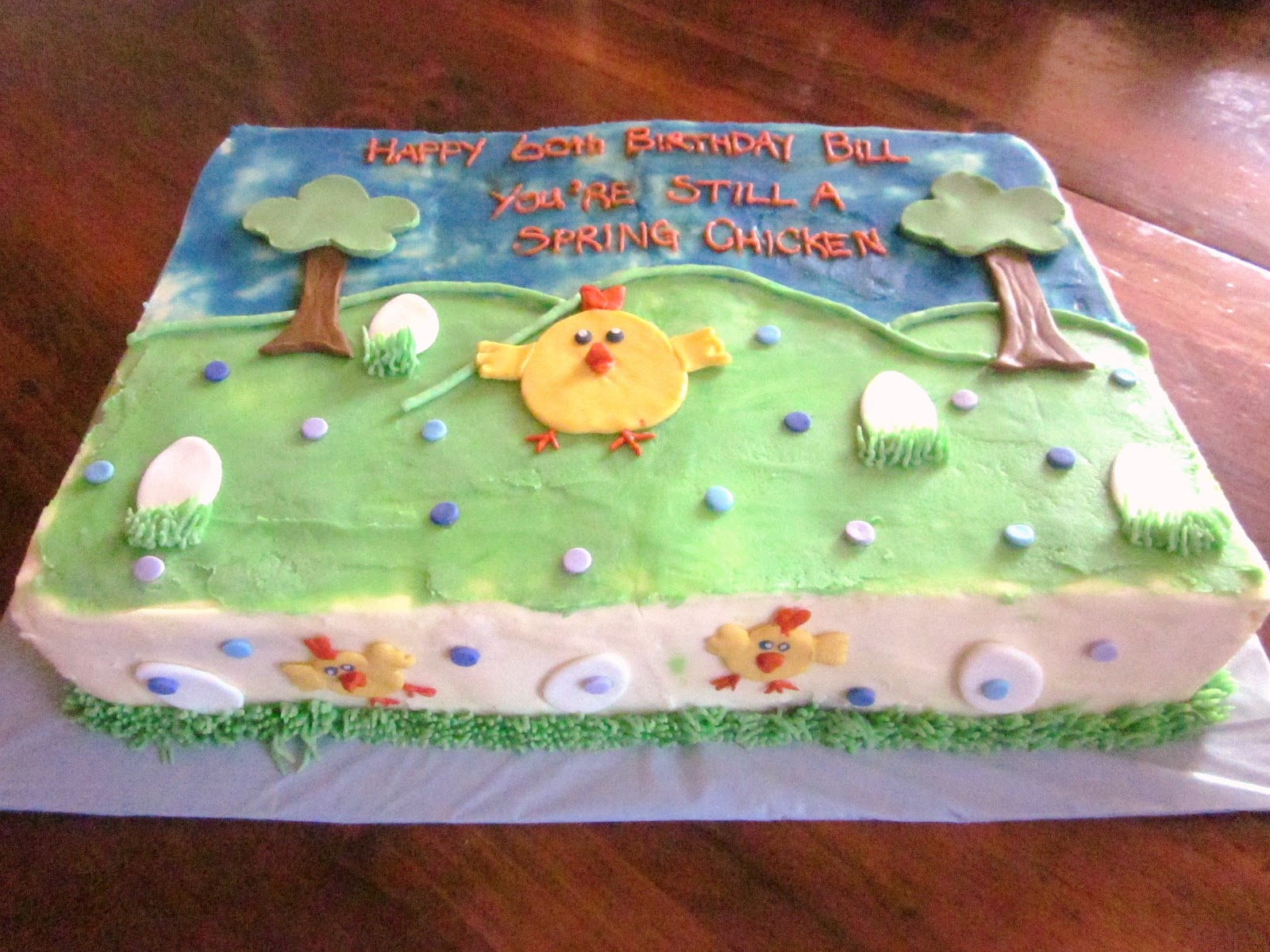 Second Generation Cake Design Spring Chicken Easterbirthday Cake