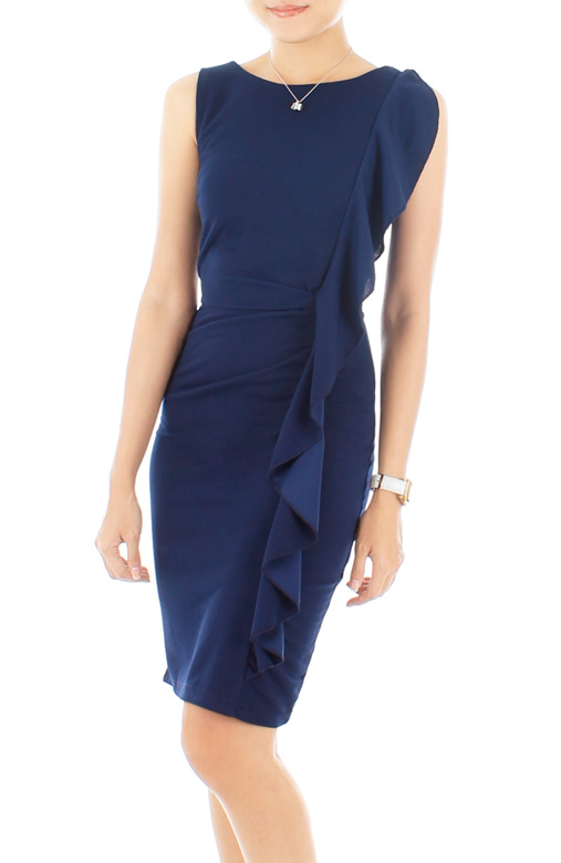 Leigh Ruffle Pencil Dress