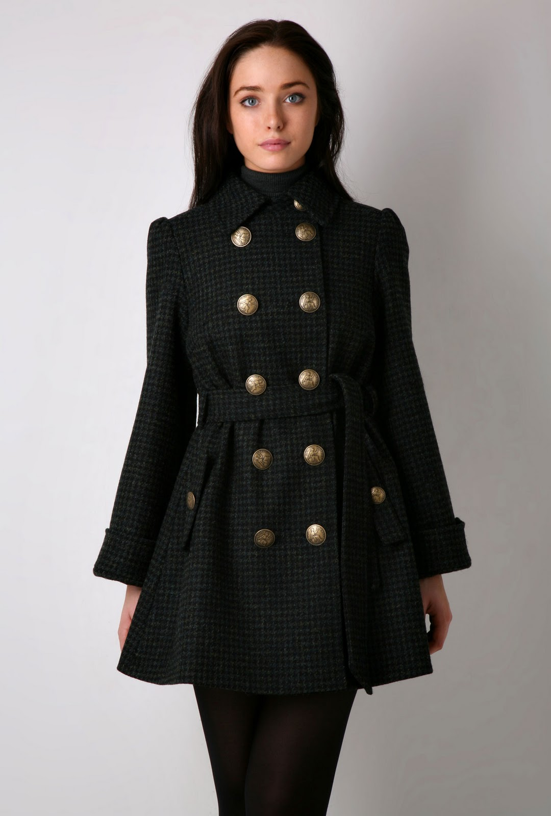 2. Best Dressy Trench Coat: Jessica Simpson Women's Double-Breasted Bouclé Coat