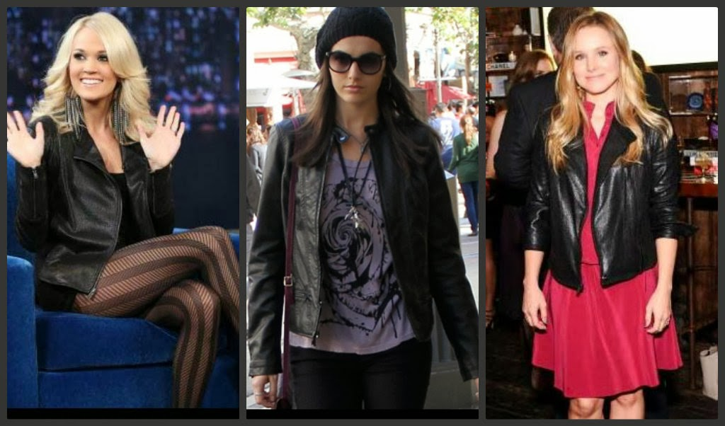 celebrities in express minus the leather moto jacket
