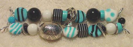 Black & Turquoise Stripe