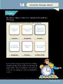 Respuestas Apoyo Primaria Desafíos matemáticos 3er grado Bloque 1 lección 14 ¿Cuánto tiempo dura?